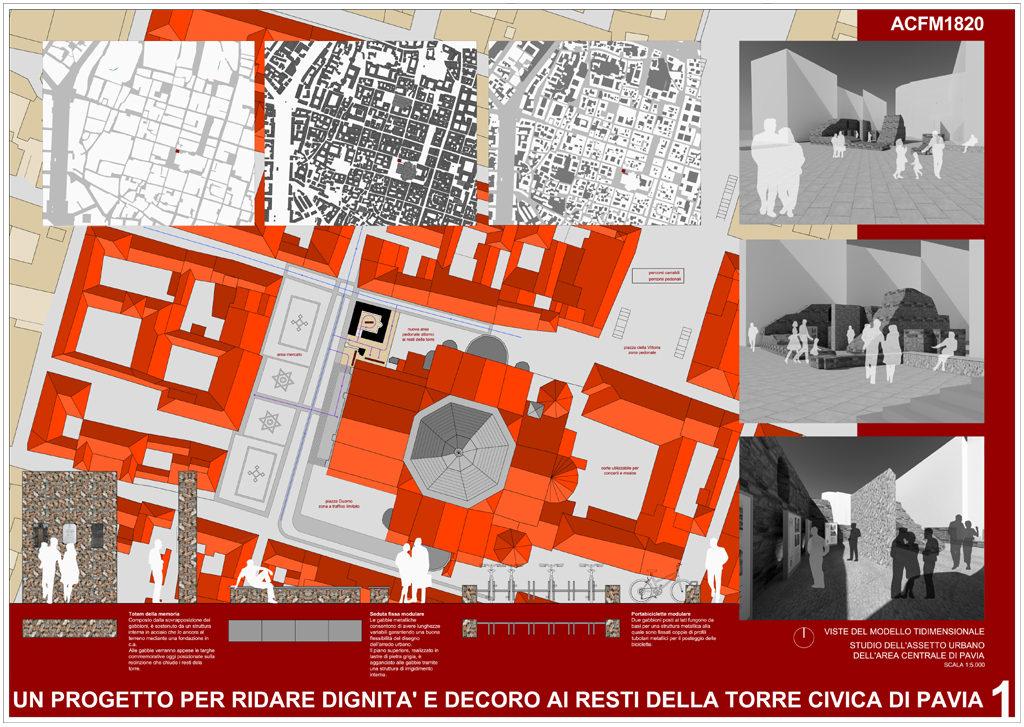 Riqualificazione dei resti della Torre Civica di Pavia