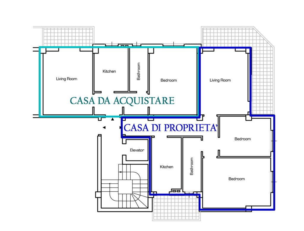 Fusione di due appartamenti